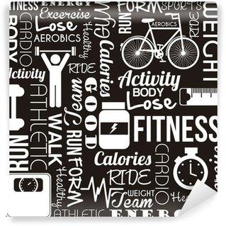 Carta da Parati in Vinile Fitness vettore