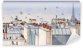 Carta da Parati in Vinile Francia - Parigi tetti