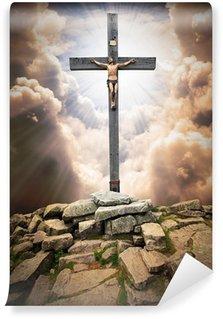 Carta da Parati in Vinile Gesù Cristo sulla croce