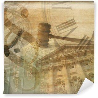 Carta da Parati in Vinile Giustizia collage