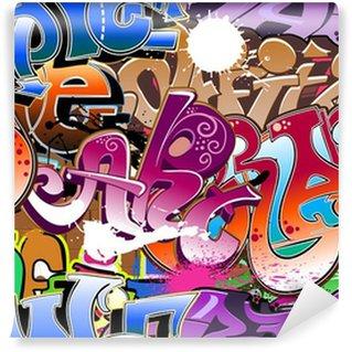 Carta da Parati in Vinile Graffiti sfondo trasparente