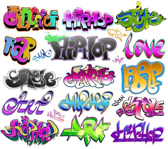 Carta da parati in vinile graffiti vettore pixers for Carta parati vinile
