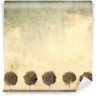 Carta da Parati in Vinile Grunge immagine di alberi