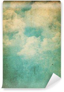 Carta da Parati in Vinile Grunge sfondo nuvole