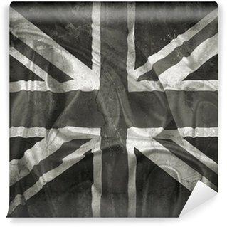 Carta da Parati in Vinile Grunge Union Jack flag background