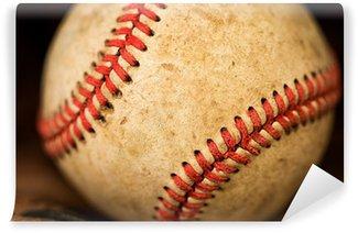 Carta da Parati in Vinile Guanto da baseball con la palla
