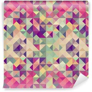 Carta da Parati in Vinile Hipsters Vintage pattern geometrico.