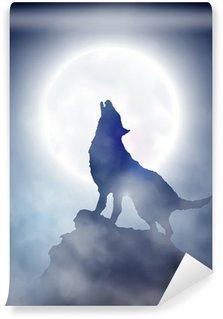 Carta da Parati in Vinile Howling Wolf