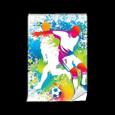 Carta da parati i giocatori di calcio con un pallone da - Pagina da colorare di un pallone da calcio ...