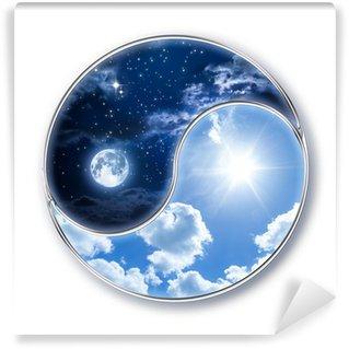 Carta da Parati in Vinile Icon tao - luna e sole