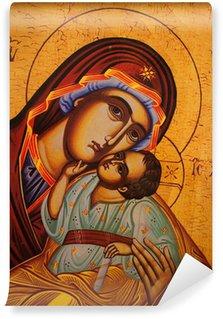 Carta da Parati in Vinile Icona ortodossa tradizionale di Madre Maria