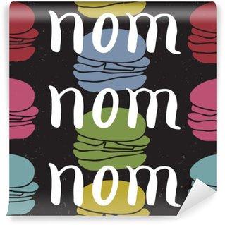 Carta da Parati in Vinile Il cibo carta citazione tipografica