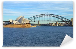Carta da Parati in Vinile Il Sydney Harbour Bridge e l'Opera House