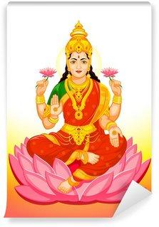 Carta da Parati in Vinile Indiano dea Lakshmi