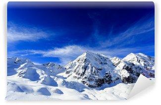 Carta da Parati in Vinile Inverno cime montagne-innevate delle Alpi