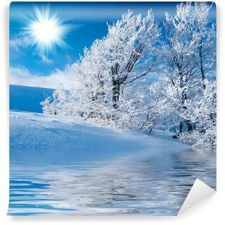 Carta da Parati in Vinile Inverno in montagna