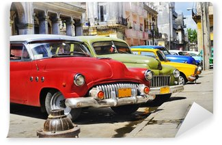 Carta da Parati in Vinile L'Avana auto Colorful