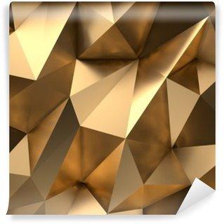 Carta da Parati in Vinile L'oro astratta 3D rende la priorità bassa