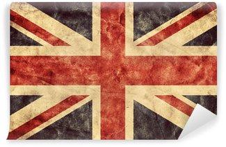 Carta da Parati in Vinile La bandiera del grunge Regno Unito. bandiere di raccolta Vintage