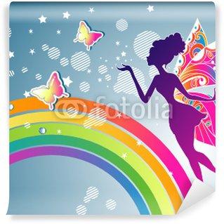 Carta da Parati Lavabile Arcobaleno Fata grafica