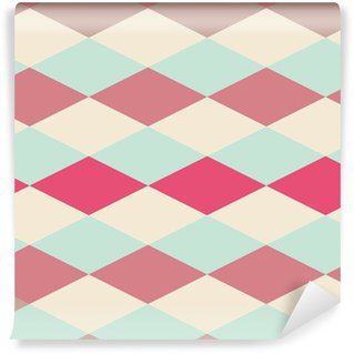 Carta da Parati Lavabile Astratta retrò pattern geometrico