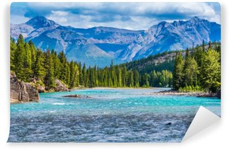 Carta da Parati Lavabile Bow river, banff, alberta, canada