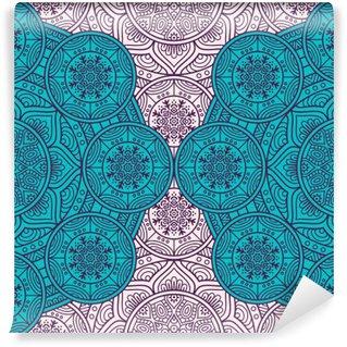 Carta da Parati Lavabile Ethnic floral seamless pattern