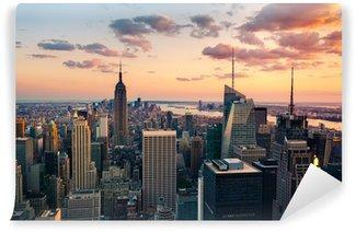 Carta da Parati Lavabile New York Empire State Building Times Square