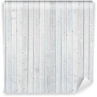 Carta da Parati Lavabile Parete di legno bianco