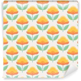 Carta da Parati Lavabile Seamless pattern floreale