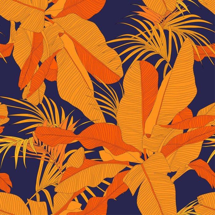 Carta da parati lavabile tendenza tessuto tropicale senza for Carte da parati di tendenza
