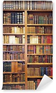 Carta da Parati Lavabile Vecchi libri biblioteca
