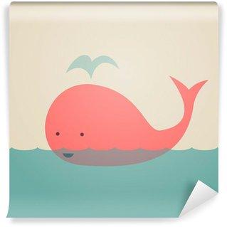 Carta da Parati Lavabile Whale Carino