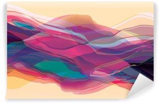 Carta da Parati in Vinile Le onde di colore, superficie astratta, sfondo moderno, illustrazione disegno vettoriale per voi proiettate