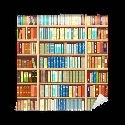 Carta da parati libreria piena di libri pixers for Carta da parati libreria