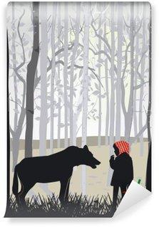Carta da Parati in Vinile Little Red Riding Hood