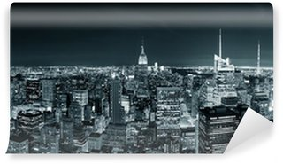 Carta da Parati in Vinile Manhattan New York City skyline di notte
