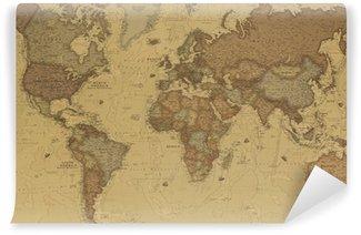 Carta da Parati in Vinile Mappa del mondo antico