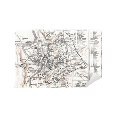 Carta da parati mappa di roma antica pixers viviamo for Carta da parati roma