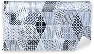Carta da Parati in Vinile Mattonelle di mosaico astratto per parete e pavimento