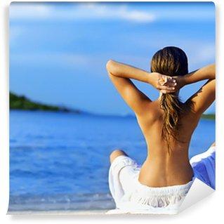 Carta da Parati in Vinile Meditazione sulla spiaggia