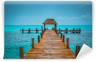 Carta da Parati in Vinile Molo Caraibi