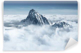 Carta da Parati in Vinile Montagna tra le nuvole