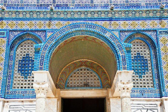 Carta da parati in vinile mosaico sulla cupola d 39 oro sulla for Carta da parati effetto roccia