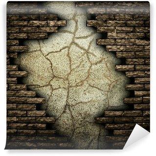 Carte da parati muro rotto pixers viviamo per il for Carta da parati muro di mattoni