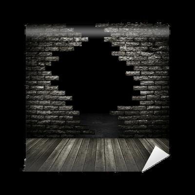 Carta da parati muro di mattoni rotto pixers viviamo for Carta da parati muro di mattoni