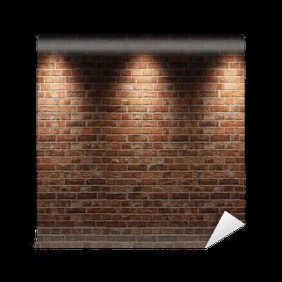 Carta da parati in vinile muro di mattoni pixers for Carta da parati muro mattoni