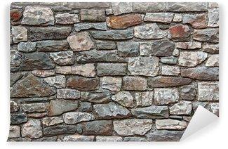 Carta da Parati in Vinile Muro di pietra naturale