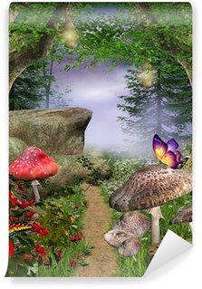 Carta da Parati in Vinile Natura incantata serie - percorso incantato