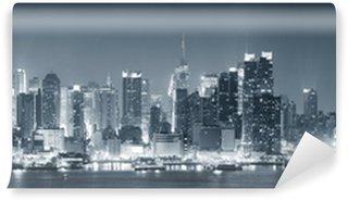 Carta da Parati in Vinile New York City Manhattan in bianco e nero